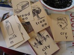 ESL Language Instruction Strategies:  This picture represents the reading strategies.  These are flash cards that have pictures and the word printed on them.  These would allow the teacher to point to the pictures and explain the meaning if the child did not know.