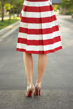 red + white stripes