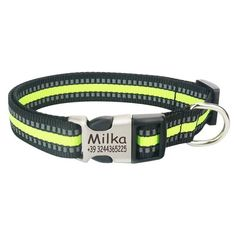 Reflective Nylon Personalized Engraved Collars with ID Tag for Small Medium Large Dogs Absolutely Free of Cost Nylons, Gender Examples, Reflective Dog Collars, Dog Collar Tags, Personalized Dog Collars, Pet Id Tags, Cat Colors, Medium Dogs, Types Of Collars
