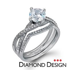 Fabled Collection.  This gorgeous 18K white engagement ring and band is comprised of .22ctw round white Diamonds.