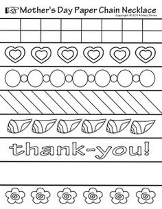 This is a three page set suited to celebrate any special someone in a child's life.  Each page has 7 pre-designed strips and 1 blank strip.  In total, your students have 24 strips to color, decorate, cut, glue and assemble to create their paper chain necklace.Paper chains rock!