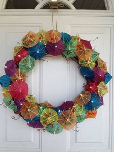 Drink Umbrella Wreath for summer parties!