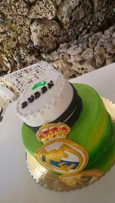 Tarta Real Madrid, Birthday Cake, Desserts, Food, Tarts, Tailgate Desserts, Birthday Cakes, Deserts, Essen