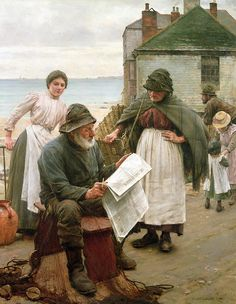 When The Boats Are Away Print By Walter Langley