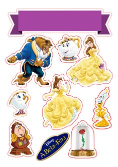 A bela e a fera topper de bolo png Beauty And The Beast Cake Birthdays, Beauty And Beast Birthday, Beauty And The Beast Party, Belle Beauty And The Beast, Scrapbook Da Disney, Baby Scrapbook, Cartoon Songs, Cartoon Characters, Bolo Png