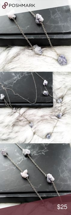 the layered druzy necklace • style name: the layered druzy necklace • color: blue/white/silver • material: simulated stone, metal alloy • details to come • condition: brand new boutique item ____________________________________________________ ✅ make an offer!     ✅ i bundle! ✅ posh compliant closet ⛔️ no trades  boutique item THE EDGY SHOP Jewelry Necklaces