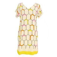 Rebecca Thompson Silk Honeycomb Shift Dress Online Women's Design Fashion - Bramhall & Miles