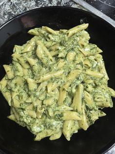 Macarrones exprés con espinacas para #Mycook http://www.mycook.es/receta/macarrones-expres-con-espinacas/