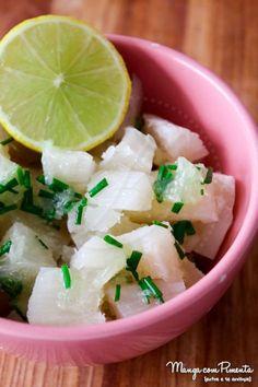 Salada de Mandioca/Macaxeira/Aipim, para ver a receita, clique na imagem para ir ao Manga com Pimenta.