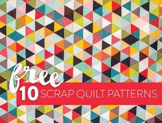 10 Fun & Free Scrap Quilt Patterns