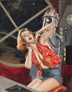 Women of the future have to be careful around perverted robots. Mad Monsters of Monda-Lau from Peril magazine.