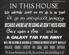 In This House We Do Geek 16x20 Chalkboard by GooseFeatherCrafts