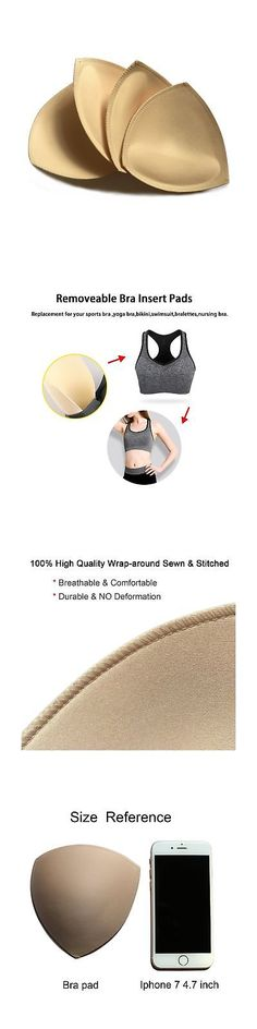 092833db6d78a 2 Pairs Removeable Push up Triangle Bra Pads Inserts for Bikinis Top Sport  Br.