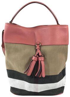 ba991673e66c Burberry Medium Ashby Check Cinnamon Canvas  amp  Leather Hobo Bag. Hobo  bags are hot. Tradesy