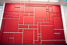 Fabwall acoustic wall panels custom shaped into aztec pattern from Asona, NZ