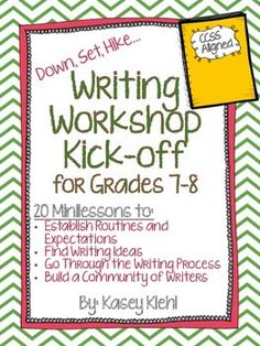 If youre looking to start Writing Workshop in your middle school classroom, look no further.  This product includes everything you will need to get started and keep Writing Workshop running in your classroom year-round.  Writing Workshop at the middle school level is ideal for meeting the needs of all students (ELL, Special Education, Gifted and Talented) in your classroom because of the choice and flexibility it allows.