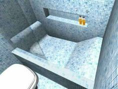 Sauna Shower, Bathtub Shower Combo, Bathroom Tub Shower, Condo Bathroom, Concrete Bathtub, Bathtub Tile, Dream Bathrooms, Amazing Bathrooms, Upstairs Bathrooms