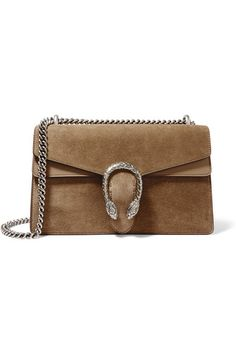 Gucci | Dionysus medium leather-trimmed suede shoulder bag | NET-A-PORTER.COM