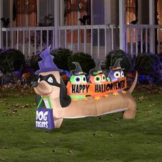 4 airblown halloweiner dog inflatables halloween decoration walmartcom - Walmart Halloween Decorations