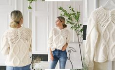 Strikkeoppskrift: Camilla Pihls Mari-genser   ELLE Norge Camilla, Diy And Crafts, Ruffle Blouse, Spring Summer, Knitting, Crochet, Sweaters, Outfits, Tops