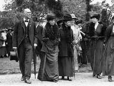 Walking in Regents Park, London, with Alexandra's daughter, Princess Victoria, and Dagmar's daughter, Grand Duchess Xenia.