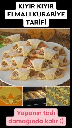 Apple-Plätzchen-Rezept - - galletas - Las recetas más prácticas y fáciles Apple Cookies, Nutella Cookies, Caramel Cookies, Apple Desserts, Apple Recipes, Cookie Recipes, Easy Pasta Recipes, Clean Recipes, Yummy Recipes