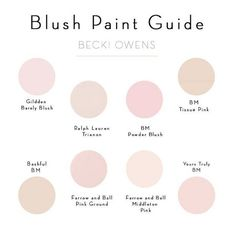 Blush Paint Color Ideas. Pale Pink Paint Color. Glidden Barely ...