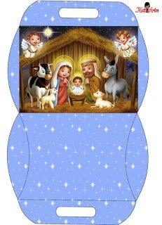 Caja almohada Navidad