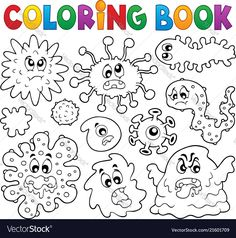 Alphabet Drawing Book Pdf Best Of Coloring Book Germs theme 1 Drawing Book Pdf, Alphabet Drawing, Coloring Pages For Boys, Free Coloring Pages, Coloring Books, Germ Crafts, Les Microbes, Preschool Activities, Body Preschool
