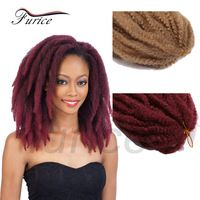 18inch Afro Kinky Marley Twist Braiding Hair Synthetic Braids Freetress Crochet Hair Extensions 65-100g/piece Natural Afro Style