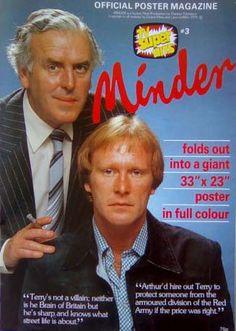 MINDER- TV'S SUPER HITS- POSTER MAGAZINE 1983