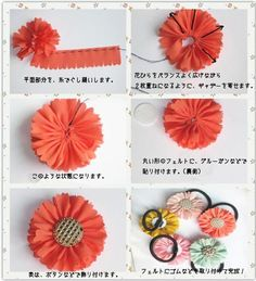 Best 12 Exceptional diy hacks hacks are offered on our web pages. Have a look and you wo… – – SkillOfKing. Handmade Flowers, Diy Flowers, Handmade Crafts, Fabric Flowers, Diy And Crafts, Girls Hair Accessories, Handmade Accessories, Ribbon Crafts, Flower Crafts