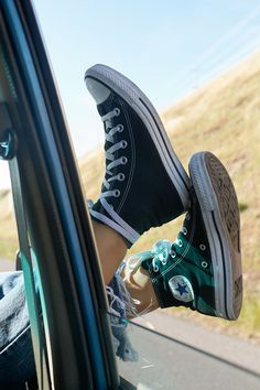 Sticking my chucks outside the window!
