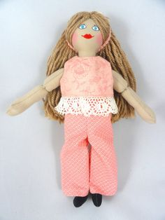 Dress Up Doll With Light Brown Hair  Toy Doll by JoellesDolls