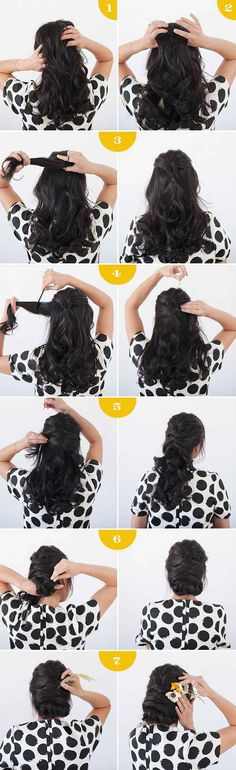 Add a few flowers to your hair for this summer style.