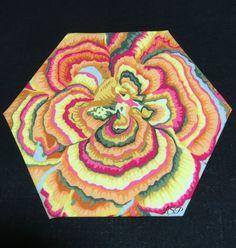 "3""HEX300 #epp #hexies #hexagons #glorioushexagons #quilting #englishpaperpiecing #handquilting"