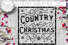 Vintage Country Christmas Cutting Design By Sparkal Designs