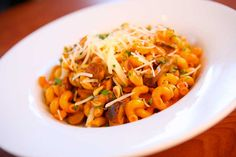 Roasted Red Pepper Pasta with Zucchini and Toasted Pine Nuts at Disney's PCH Grill at the Paradise Pier Hotel