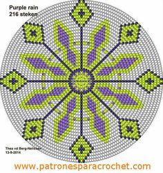 Wayuu Bag - Free pattern chart for bag bottom Patrón Mochila Wayúu Tapestry Crochet Patterns, Crochet Motifs, Crochet Stitches Patterns, Crochet Chart, Free Crochet, Cross Stitch Patterns, Mochila Crochet, Tapestry Bag, Crochet Purses