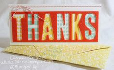 """Alternate Project using the """"left overs"""" from the February 2015 Paper Pumpkin Kit, Layers of Gratitude by Stampin' Up! www.carriestamps.com"""