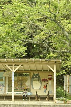 Totoro Station (Kazusa-Ōkubo station), operated by the Kominato Railway Company's Kominato Line, Ichihara, Chiba Prefecture Aesthetic Japan, City Aesthetic, Totoro, All About Japan, Go To Japan, Japan Japan, Japan Street, Nagano, Japanese Culture