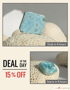 Today Only! 15% OFF this item. Follow us on Pinterest to be the first to see our exciting Daily Deals. Today's Product: Larimar and Rock 10g 50ct Sky Blue Dolphin Polished Slab Lapidary Pectolite Turquoise Azure Surfer Bohemian Rough Stone Rock DIY jewelry Buy now: https://orangetwig.com/shops/AABCLyV/campaigns/AABpt9J?cb=2015011&sn=MyBeachStore&ch=pin&crid=AABpt8i&exid=254930414