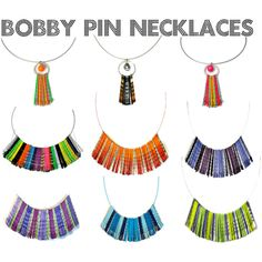 Bobby Pin Necklaces - Upcycled Jewelry by blukatdesign on Polyvore featuring etsy, upcycled and repurposed