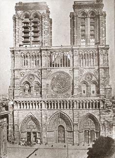 La plus ancienne photo de Notre Dame Paris 1840
