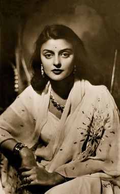 Maharani Gayatri Devi. Daughter of Prince Jitendra Narayan, who was Maharaja of Cooch-Behar from 1913 to 1922. Maharani Gayatri was considered one of India's great beauties and a legendary socialite. Truly an Indian Icon.