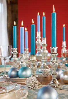 Weihnachten Im Chalet Stil   Festliche Deko Mit Alpen Charme: Kristallglanz  Mit Leuchtern Aus Silberglas