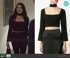 Jane's black choker top on The Bold Type. Outfit Details: https://wornontv.net/76421/ #TheBoldType