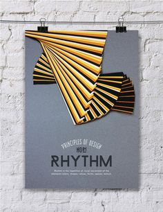 This series of paper art posters is awesome   Paper Art: Principle of Design Poster Series - JOQUZ