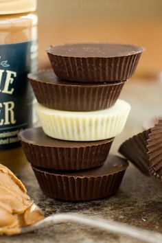 Cookie Butter Cups Recipe ~ Creamy, chocolatey and filled with cookie butter goodness! You seriously won't believe just how easy these cookie butter cups are to make!
