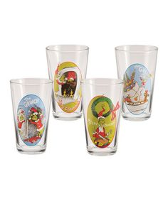 Take a look at this Dr. Seuss 'The Grinch' 16-Oz. Glass Set by Vandor on #zulily today! $18 !!